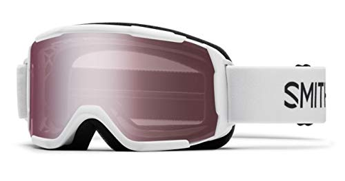 Mirror Ignitor Clear Lens - Smith Optics Youth Daredevil Snow Goggles White Frame/Ignitor Mirror