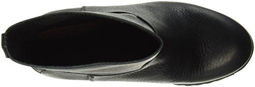Shabbies Amsterdam 16cm Tubobooty 9cm Heel Commando Sole Fantine, Zapatillas de Estar por Casa para Mujer Negro - negro