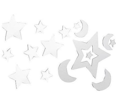 Kidsline Little Boutique Mirrored Wall Decals, Stars and Moon