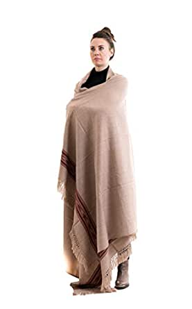 Meditation Shawl by Om Shanti Crafts | Prayer Shawl for Daily Meditation, Unisex - brown - 9' X 4'