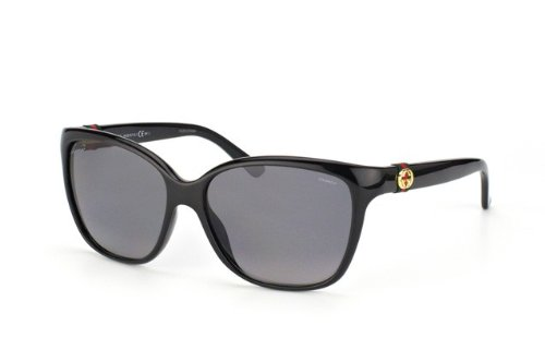 Gucci 3645/S Sunglasses Shiny Black / Gradient Shaded - Polarized Gucci