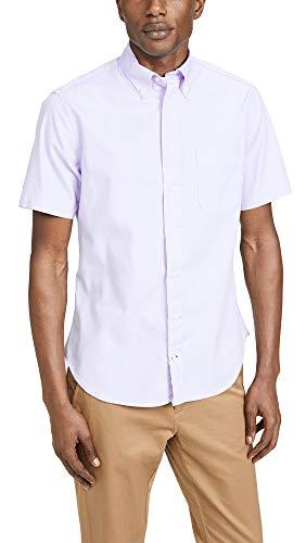 Gitman Vintage Men's Button Down Oxford Shirt, Lavender, Purple, Medium