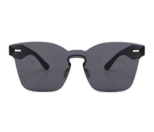 cuadradas la moda UV400 Gafas de integrados Gris de sol clásica no polarizadas vidrios qrqEgwHC