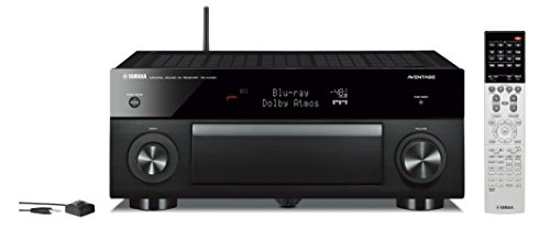 Yamaha MAIN-77326 RX-A1060BL 7.2 Channel Network Aventage AV Receiver, Works with Alexa