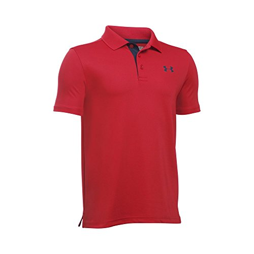 Under Armour Boys' Performance Polo, Red /Academy, Youth Large ()