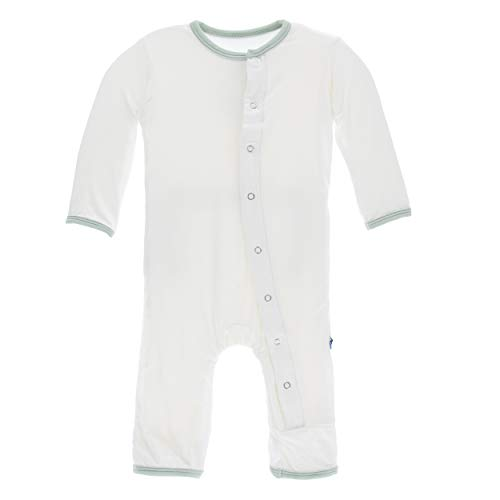 Kickee Pants Little Boys Solid Coverall with Snaps - Natural with Aloe, 18-24 ()