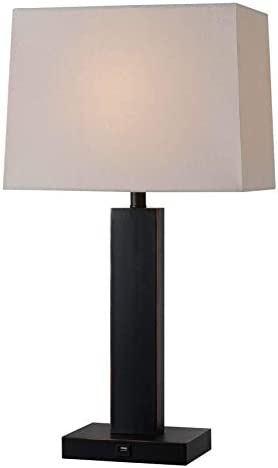 Kenroy Home Casual Table Lamp,29 Inch Height, 15 Inch Width, 9 Inch Ext. with Oil Rubbed Bronze Finish