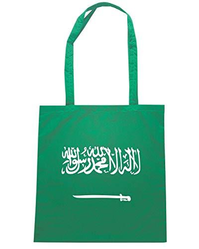 Speed Shirt Borsa Shopper Verde TM0238 SAUDI ARABIA FLAG