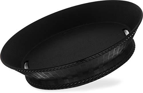 Carlisle 652803 WeaveWear Round Serving Basket, 9'', Black (Pack of 12) by Carlisle (Image #1)