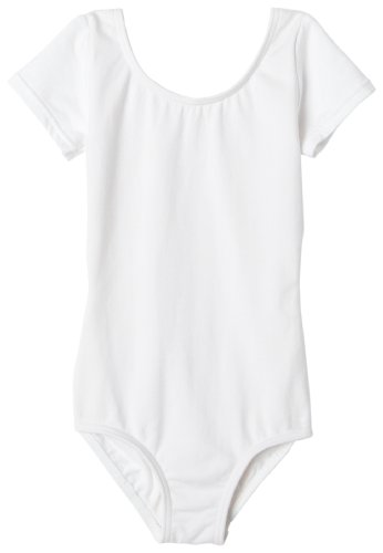 Capezio Youth Short-Sleeve Leotard, White-SM 4/6 ()