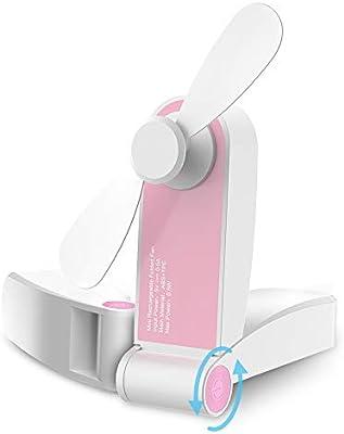 GeeRic Ventilador portátil de Mano Mini Ventilador USB Recargable ...
