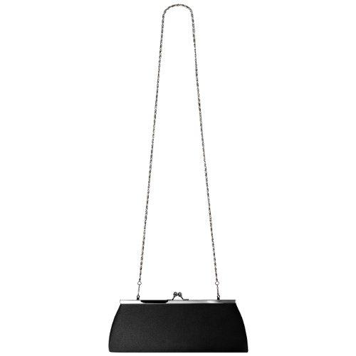 Bolsa Para De Un Satén Mujer Negro Broche Metal Elegante Clásica Colores Ta309 De Muchos Caspar Noche Embrague Con De Fw4A4Exq