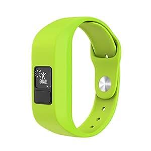 Sport Silicone Band Replacement for Garmin Vivofit3 / Vivofit JR Watch, Kids/Adults, Candy Colors (Green)