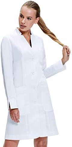 Dr. James Bata de Laboratorio Mujer, Corte Entallado, Puños ...