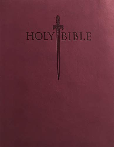 Holy Bible: King James Version Easy Read Sword, Burgundy, Thinline ()