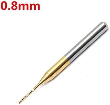 Queenwind 0.8 mm の炭化物のエンドミルのカッターは CNC の回転式バリのためのビットを刻む