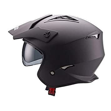 Amazonfr Unik Casque Jet Trial Ct 07 Small Noir