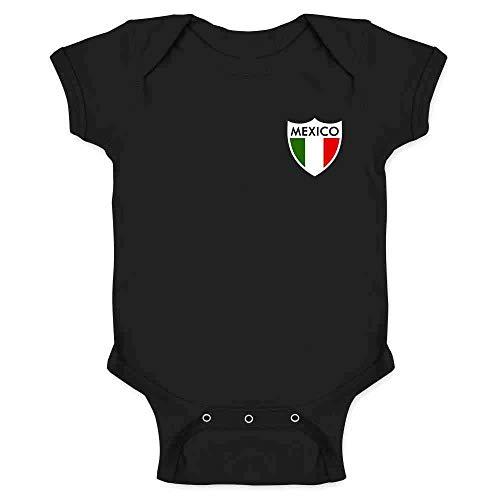 Mexico Futbol Soccer Retro National Team Football Black 6M Infant Bodysuit - Infant Replica Onesie Jersey