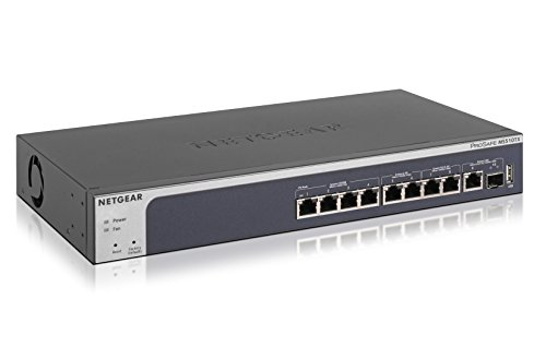 NETGEAR 8-Port Multi-Gigabit Ethernet Smart Managed Pro Switch with 10G Copper/Fiber Uplinks | ProSAFE and lifetime technical chat support (MS510TX) by NETGEAR
