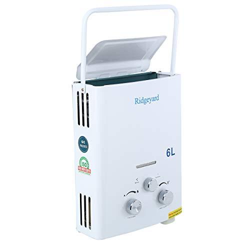 Calentador de gas propano instantaneo de Ridgeyard 6L LPG Deposito de agua caliente