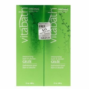 Vitabath Moisturizing Bath Shower Gelee Buy One, Get One Free Bonus Pack Original, Spring Green, 1 Ea