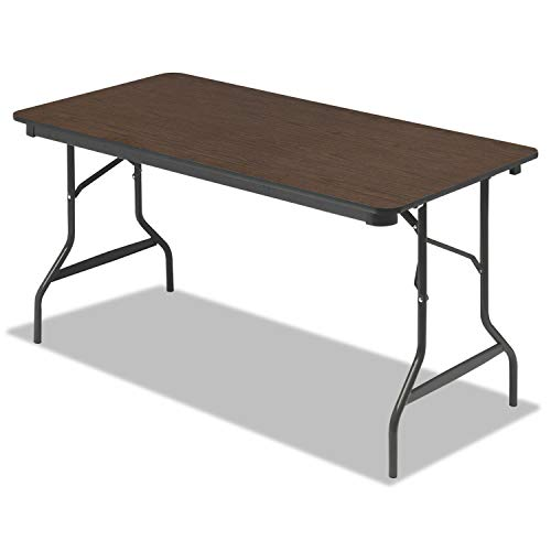 Iceberg 55314 Economy Wood Laminate Folding Table, Rectangular, 60w x 30d x 29h, Walnut