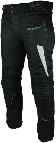 Heyberry Motorradhose Textil Schwarz Grau Gr. XL