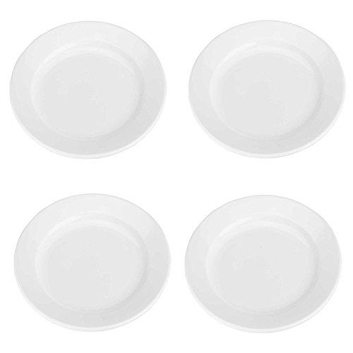 BIA Cordon Bleu Bistro Salad Plates, Set of 4, White (Porcelain Cordon Plates Bleu)