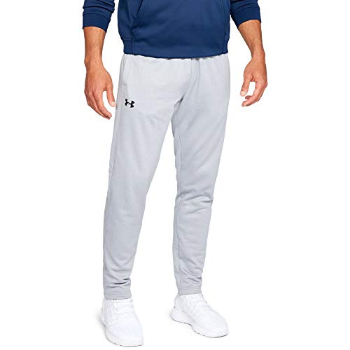 Under Armour Men's Armour Fleece Pants, Steel Light Heather (035)/Black, Large