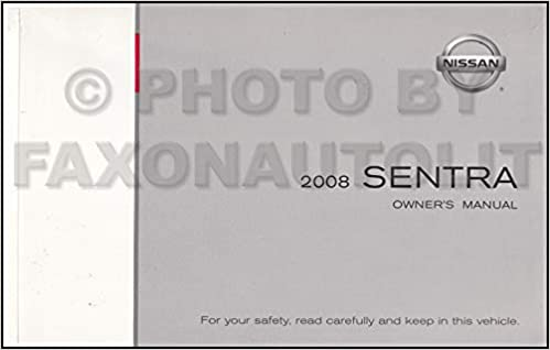 nissan sentra owners manual 2007