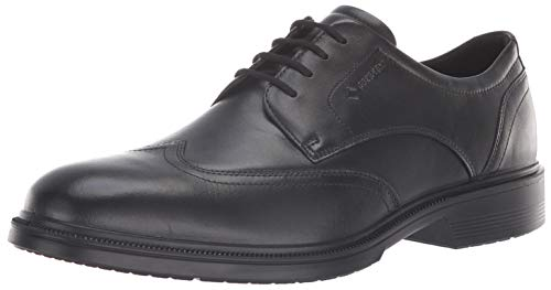 ECCO Men's Lisbon Wingtip Gore-TEX Oxford, Black, 41 M EU (7-7.5 US) ()