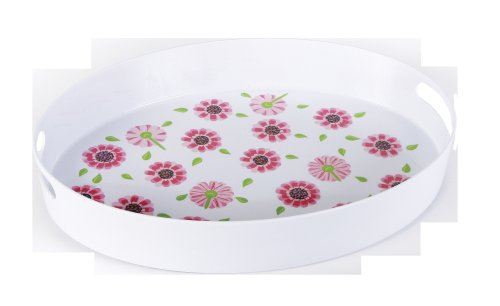 CR Gibson Lolita 19-Inch Serving Tray, Ooops-A-Daisy