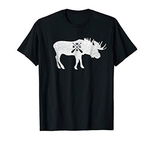 BWCA Minnesota Moose Canoe Paddle T Shirt