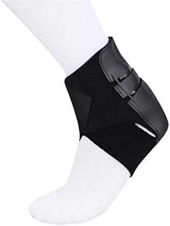 LIOOBO enkel steun enkel Brace elastische comfortabele warme enkel Guard voor sport hardlopen enkel Sprain mannen vrouwen zwart rechts voet maat L