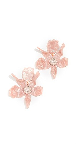 Lele Sadoughi Women's Crystal Lily Earrings, Peach, One Size