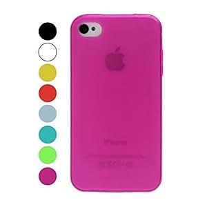 CECT STOCK Helada Solid Caso suave del color TPU para el iPhone 4/4S , Rojo