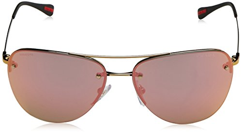Linea Soleil Rossa Lunettes Prada Homme de Pale Lightgreenmirrorbluee Gold Or wqpHxdR
