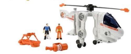 Mattel Matchbox Mega Rig Rescue Copter Emergency Action Pack