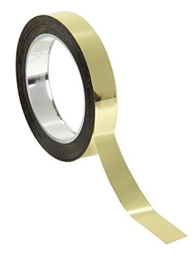 Chartpak Graphic Art - Cinta adhesiva (1/4', 1 rollo (BG251), dorado, (Gold Mylar Metallic)