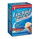 Lactaid-Fast Act Lactase Enzyme Supplement, 180ct Caplets (2 Pack Bonus Size)