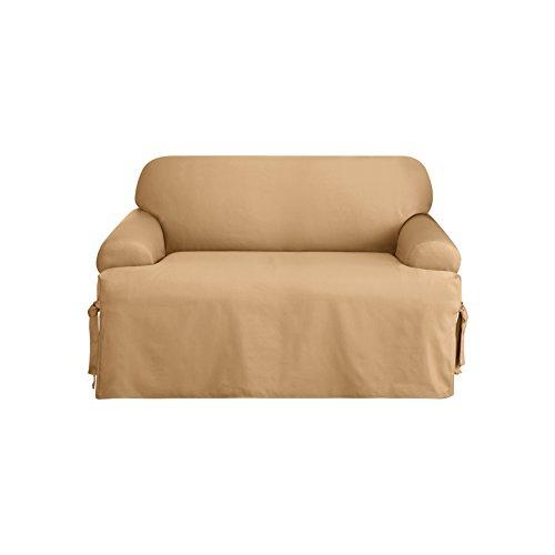 Sure Fit Logan 1 Piece Sofa Slipcover Camel Sf38157
