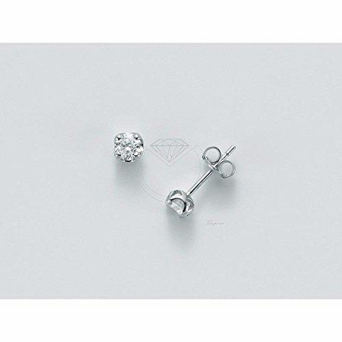 Boucles d'oreilles MILUNA Femme erd5071or blanc diamant