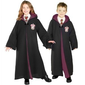 [Deluxe Child's Harry Potter Robe with Gryffindor Emblem, Medium] (Deluxe Dress Child Costumes)