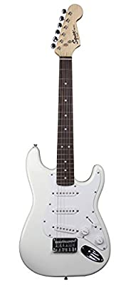 Squier by Fender Mini Strat Electric Guitar with Rosewood Fretboard - Arctic White