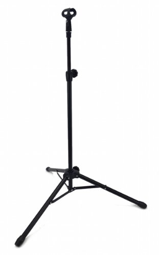 STRAIGHT MICROPHONE STAND 5' Foot ADJUSTABLE SINGLE MIKE CLI