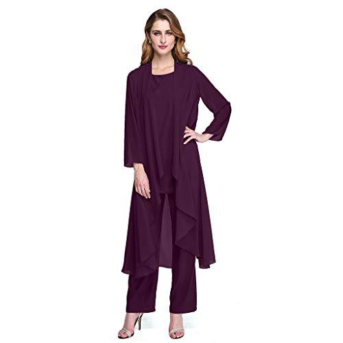 Grape Mujer Tobillo Para Hasta Largo De Con Noche Vestido Redondo El Cuello Ts Waza wOqf66