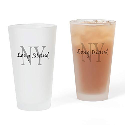 CafePress Long Island Thru NY Pint Glass, 16 oz. Drinking Glass -
