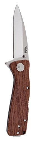 New Twitch XL Wood Handle Folding Knife + Includes a Free Zombie Hunter Toxic Skull Knife