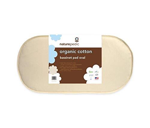 - Naturepedic Organic Cotton Bassinet Mattress (Oval - 13