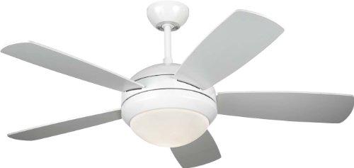 "Monte Carlo 5DI44WHD, Discus II, 44"" Ceiling Fan, White"